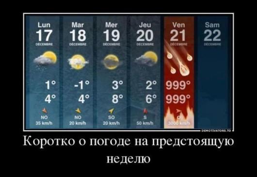 Прогноз погоде на конец света